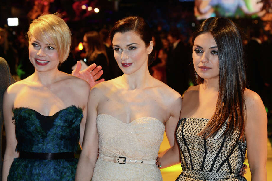 (L-R) Michelle Williams, Rachel Weisz and Mila Kunis attend the European premiere of 'Oz: The Great And Powerful' at The Empire Leicester Square on February 28, 2013 in London, England. Photo: Dave J Hogan, Getty Images / 2013 Getty Images