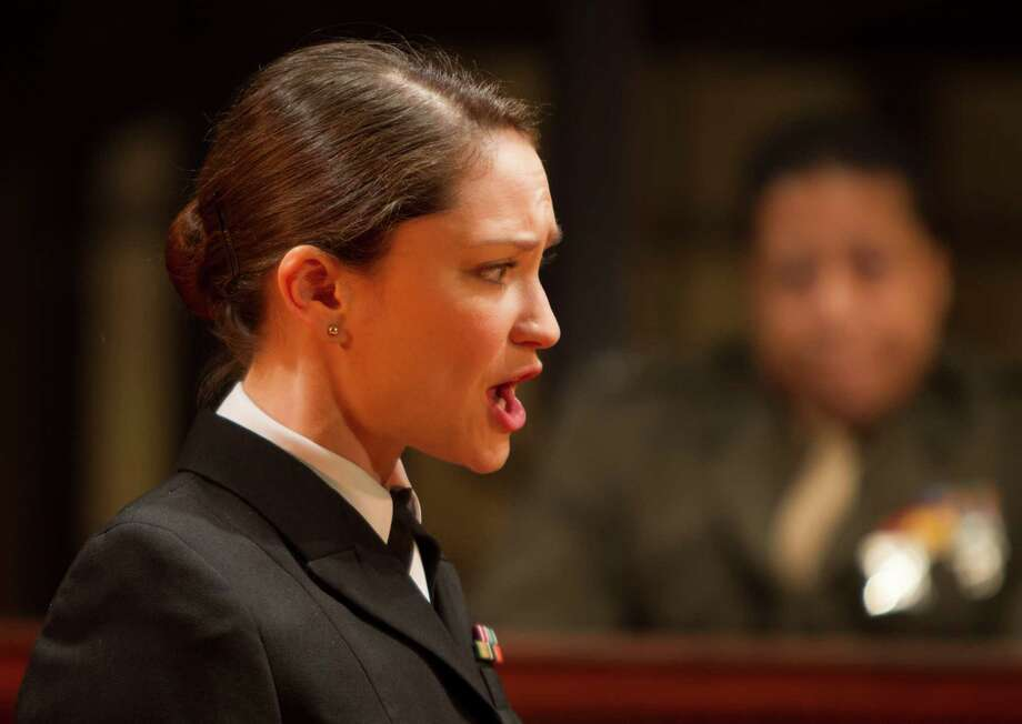 """Emily Neves stars in """"A Few Good Men"""" at Alley Threatre. Photo: Nick De La Torre, Staff / © 2013 Houston Chronicle"""