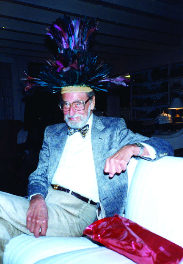 Ted Geisel sporting a hat