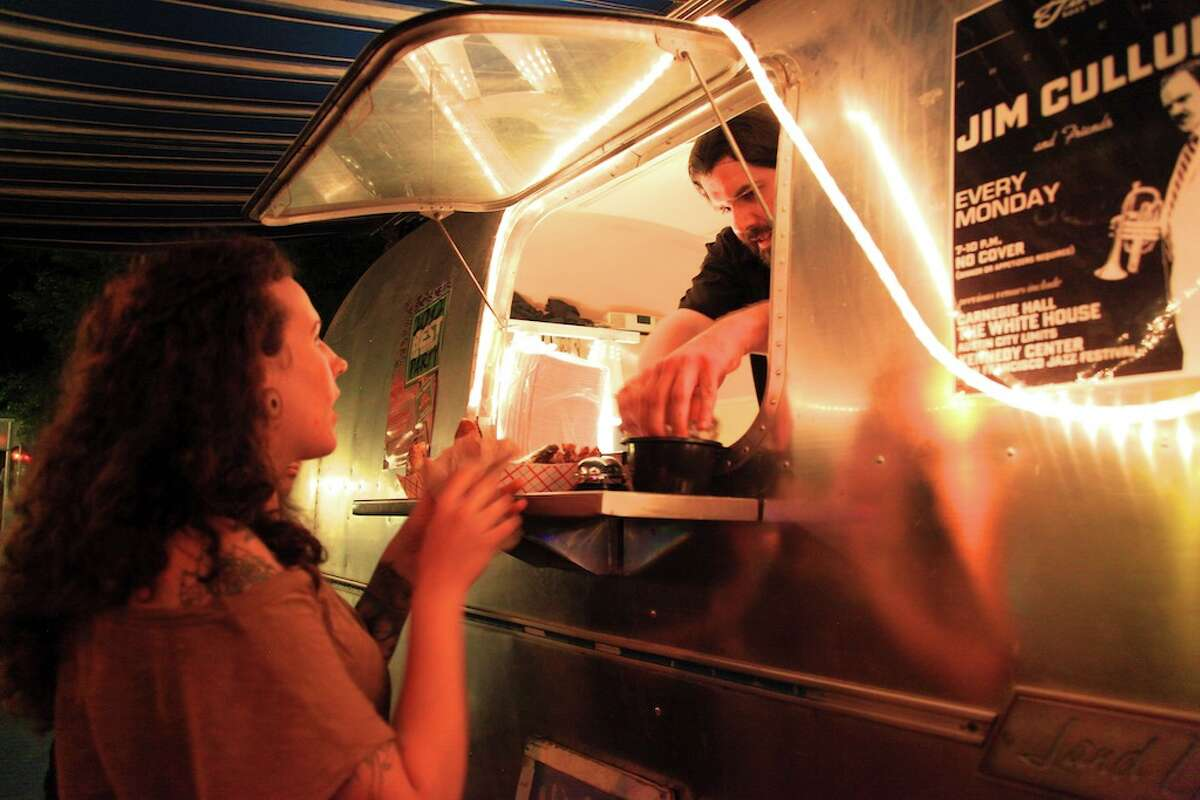 Alamo Street Eat Bar , 609 S. Alamo St. Anchored by Cullum's Attaboy burgers, the food truck court offers diverse fare from a handful of mobile kitchens on a rotating basis.