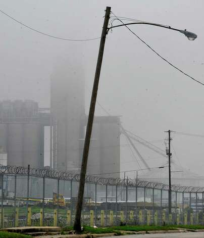 On Monday morning February 25, 2013,  Beaumont was blanketed in fog, causing everything, not on the ground per se, to be viewed in shades of gray.  I got the idea coming to work to just drive around and shoot scenes at random.  This shot is of the rice drying facility near the back side of the Port of Beaumont. I shot it from Buford Street.  The fog is beginning to lift.    Dave Ryan/The Enterprise