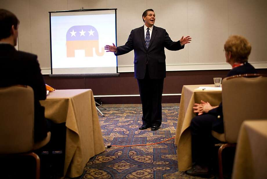 Jim Brulte, who is expected to become chairman of the state GOP on Sunday, talks to delegates in Sacramento. Photo: Max Whittaker/Prime, Special To The Chronicle