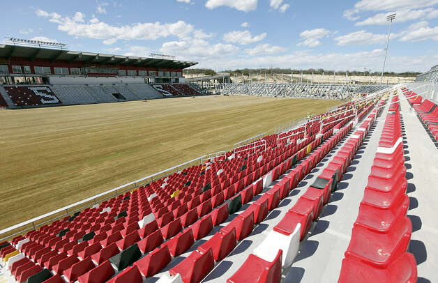 Toyota Field, the new home of the Scorpions, is nearing completion in a former rock quarry on the northeast side of San Antonio. The team's home opener is set for 7:30 p.m. April 13 against Tampa Bay. Photo: Photos By Edward A. Ornelas / San Antonio Express-News