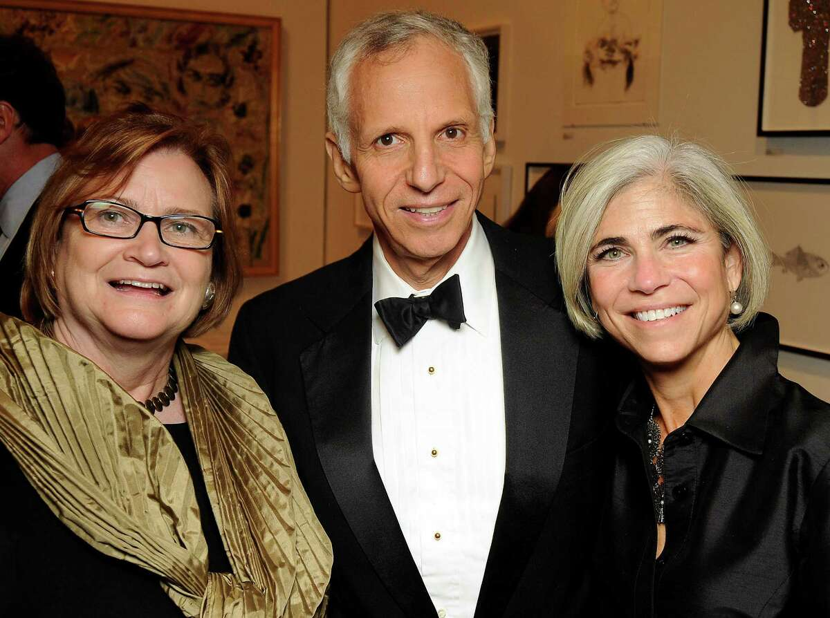 From left: Linda Shearet, Bill Stern and Judy Nyquist at the after-party of the Contemporary Arts Museum Houston's annual gala Friday April 29,2011.(Dave Rossman/For the Chronicle)