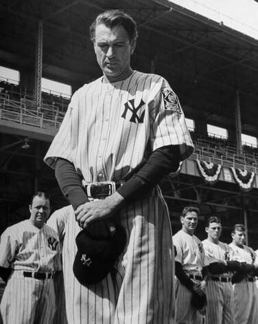 Gary Cooper played Lou Gehrig in ''The Pride of the Yankees.'' Photo: RKO 1942