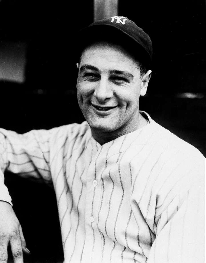 Here's young Lou Gehrig, making his Major League debut with the New York Yankees in 1923. Photo: ASSOCIATED PRESS / ONLINE_YES
