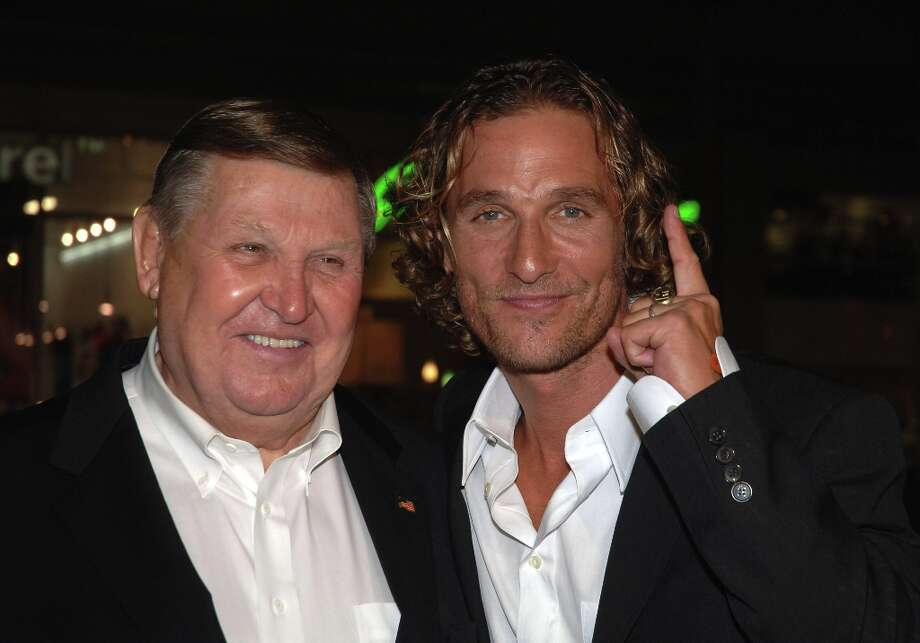 Real-life coach Jack Lengyel and Matthew McConaughey during the ''We Are Marshall'' premiere. Photo: Alberto E. Rodriguez, WireImage / WireImage