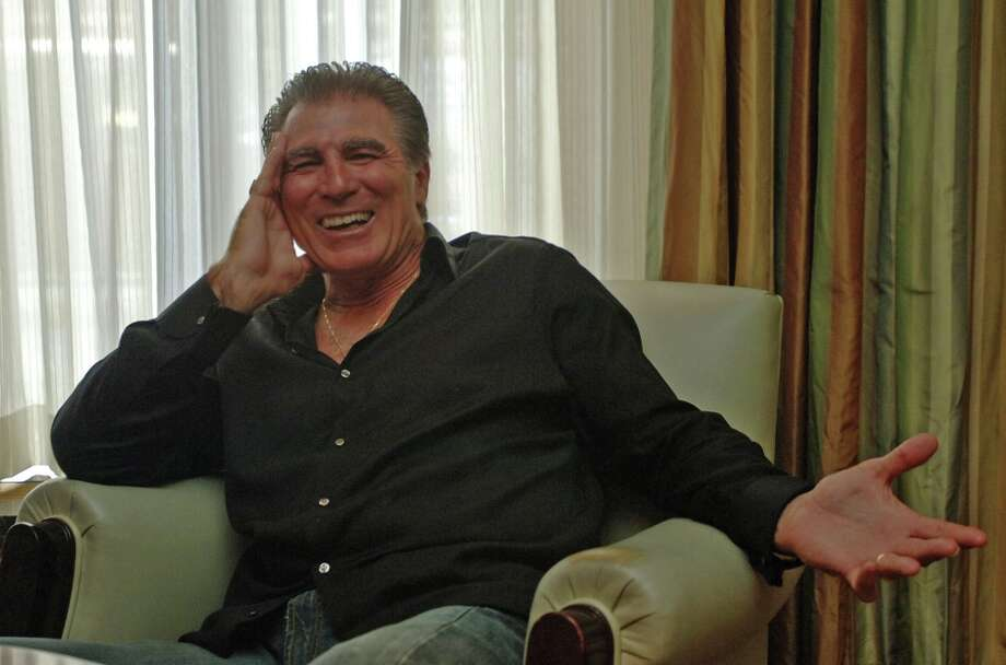 Vince Papale, the inspiration for the film, poses during a visit to New York. A substitute teacher and bartender who never played college football, Papale tried out for the Philadelphia Eagles in 1976 and made the team at age 30, becoming the oldest rookie in National Football League history. Photo: JOHN SMOCK, AP / AP