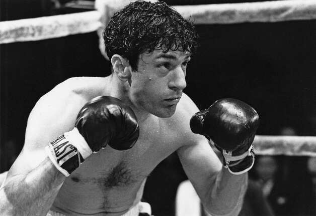 Robert De Niro as boxer Jake LaMotta in Martin Scorsese's iconic ''Raging Bull'' (1980).