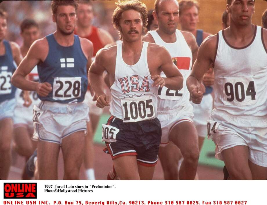 Perhaps the closest lookalike in the list, here's  Jared Leto in his first starring role, the track star himself in ''Prefontaine.'' Photo: Getty Images / Getty Images North America