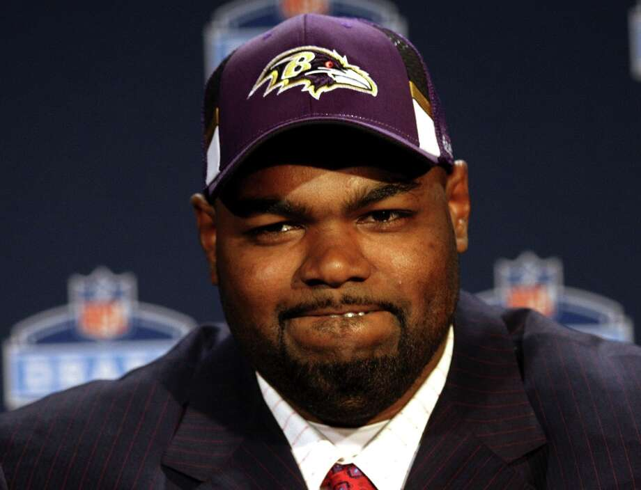 Here's the real-life Michael Oher, now a Baltimore Ravens offensive lineman. Photo: Craig Ruttle, AP / FR61802 AP