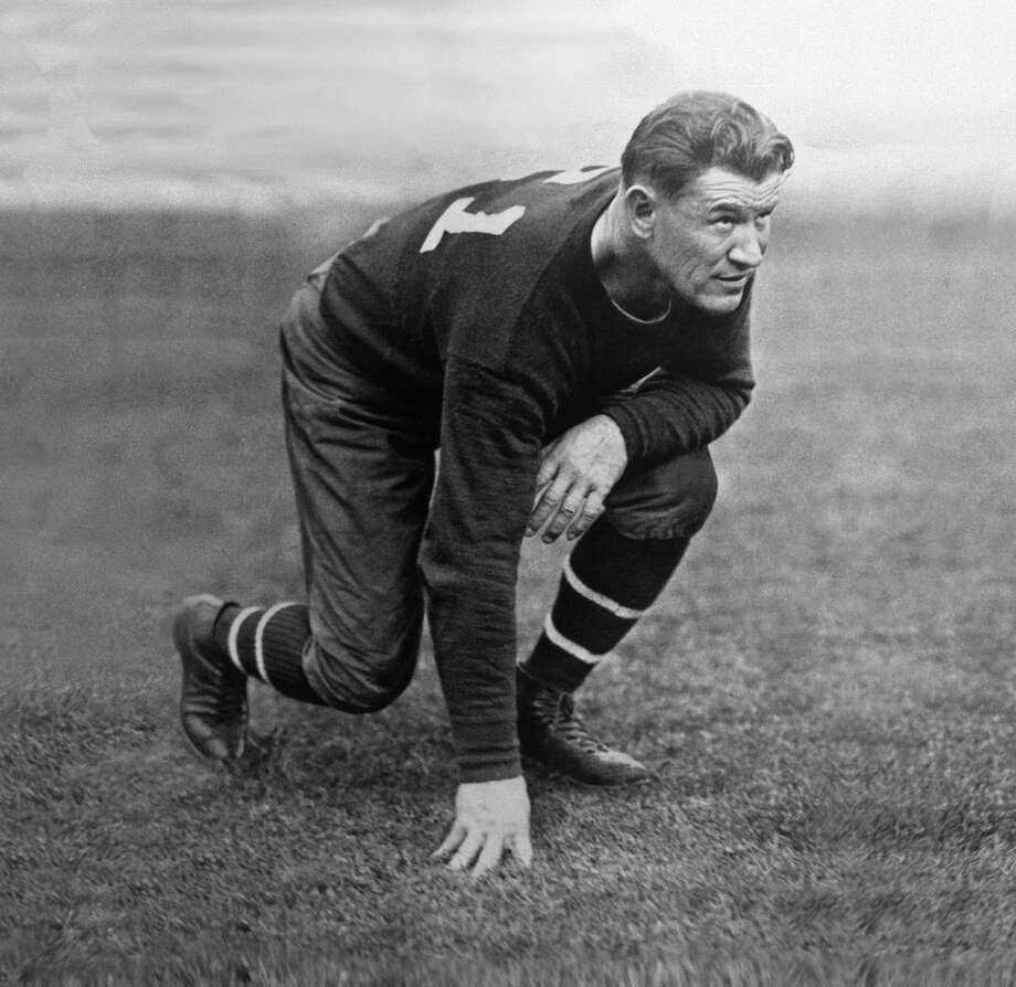 Here's a young Jim Thorpe, one of the great athletes of all time. He won Olympic gold medals in the pentathlon and decathlon and played football, baseball and basketball. Photo: Jim Thorpe Association / Jim Thorpe Association