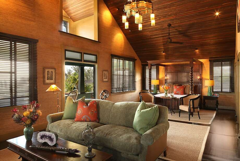 Lumeria Maui, a former a landmark but derelict 1911 Craftsman compound on Haleakala's west-facing slope, has served as a retirement home, a college dorm and plantation worker housing. It has been turned into a wellness retreat by interior designer and author Xorin Balbes. Photo: Lumeria