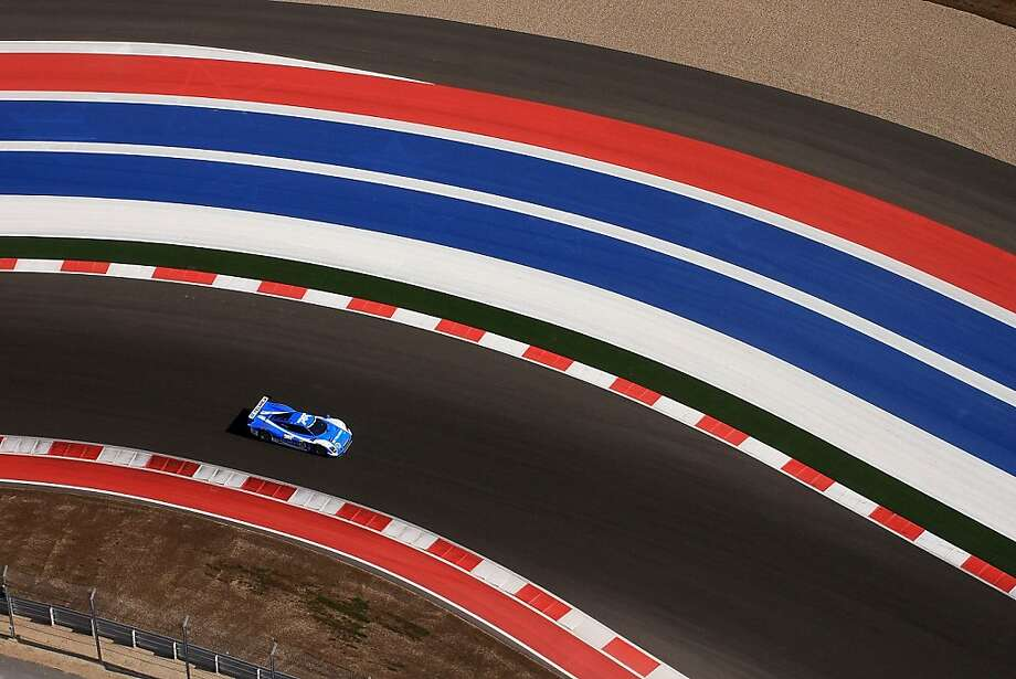 The #01 BMW Riley of Scott Pruett and Memo Rojas during practice for the Grand-Am of the Americas at Circuit of The Americas on March 1, 2013 in Austin, Texas. Photo: Brian Cleary, Getty Images