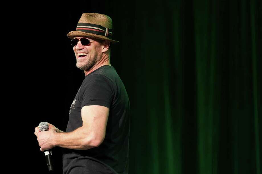 "Michael Rooker, of AMC's ""The Walking Dead"" TV show fame, laughs during a question-and-answer session with attendees. Photo: JORDAN STEAD / SEATTLEPI.COM"