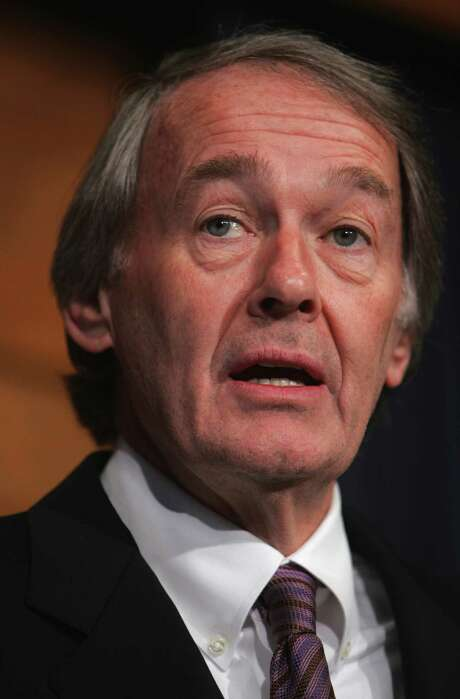 Rep. Ed Markey, D-Mass., meets reporetrs during a news conference on Capitol Hill in Washington, Friday, Feb. 29, 2008, highlighting the record price of a barrel of oil at $103. Markey also noted the Senate is one vote shy of passing the House-passed energy bill. (AP Photo/Lawrence Jackson) Photo: Lawrence Jackson, STF / AP