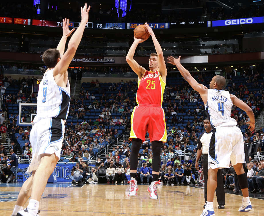 March 1: Rockets 118, Magic 110Rockets forward Chandler Parsons attempts a jumper. Photo: GARY W. GREEN