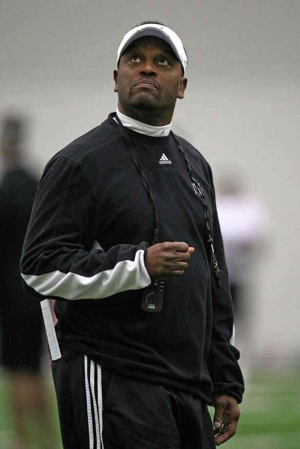 Texas A&M head football coach Kevin Sumlin during Spring football practice, Saturday, March 2, 2013 at the McFerrin indoor complex at Texas A&M University in College Station, TX. (Photo: Eric Christian Smith/For the Houston Chronicle) Photo: Eric Christian Smith, For The Chronicle