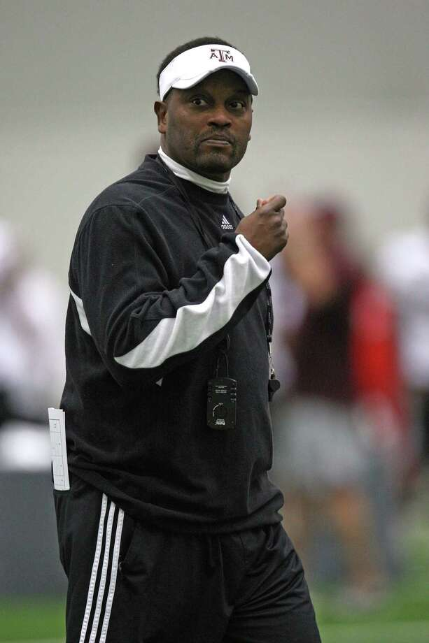 Texas A&M head coach Kevin Sumlin during Spring football practice, Saturday, March 2, 2013 at the McFerrin indoor complex at Texas A&M University in College Station, TX. (Photo: Eric Christian Smith/For the Houston Chronicle) Photo: Eric Christian Smith, For The Chronicle