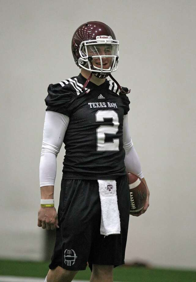 Texas A&M quarterback Johnny Manziel during practice. Photo: Eric Christian Smith, For The Chronicle