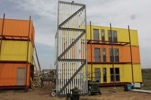 San Antonio developer David Monnich is building an apartment project in Encinal using shipping containers as the building blocks. Photo: David Monnich / Courtesy Photo