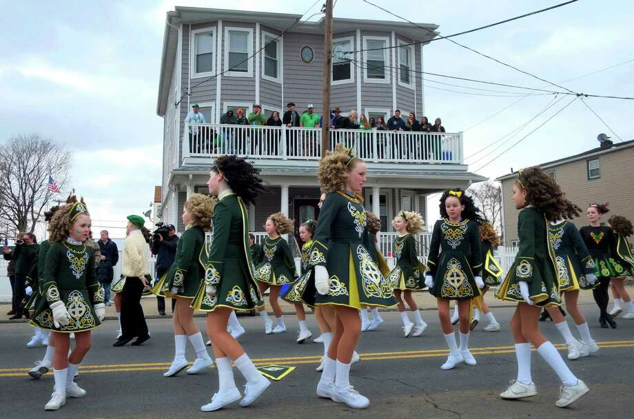 Performers with the O'Malley Irish Dance Academy perform during the Queens County St. Patrick's Day Parade in the Rockaway section of New York, Saturday, March 2, 2013. Photo: Mark Lennihan, Associated Press / AP