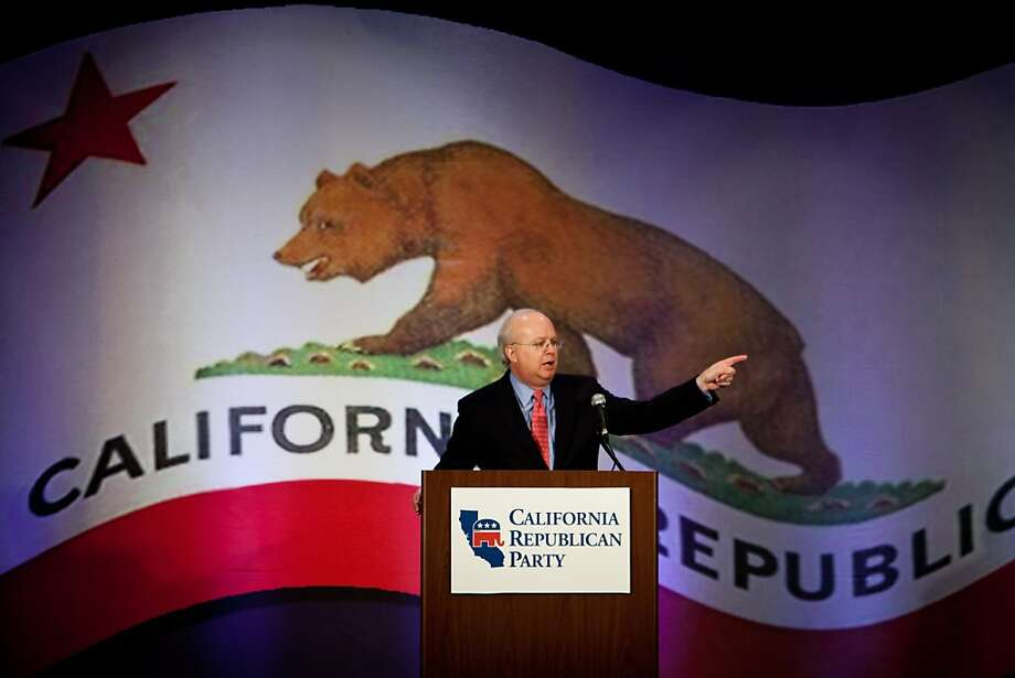 Karl Rove urges Republicans to adjust their message, especially to women and minorities, at the GOP convention in Sacramento. Photo: Max Whittaker/Prime, Special To The Chronicle
