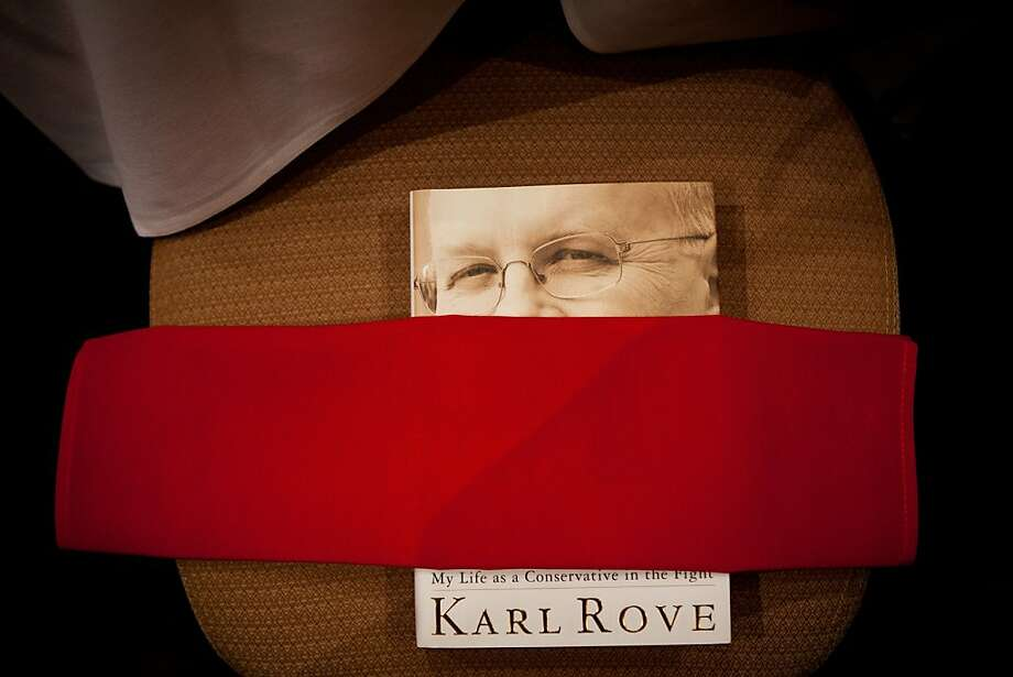 Karl Rove's book awaits attendees to a luncheon at the California Republican Party convention, March 2, 2013 in Sacramento, California. Photo: Max Whittaker/Prime, Special To The Chronicle