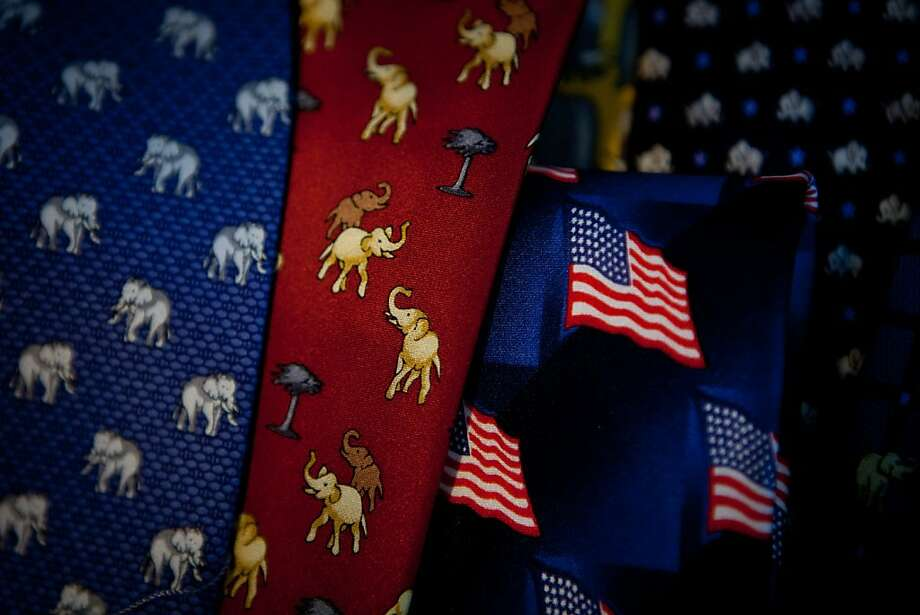 Republican themed ties for sale at the California Republican Party convention, March 2, 2013 in Sacramento, California. Photo: Max Whittaker/Prime, Special To The Chronicle