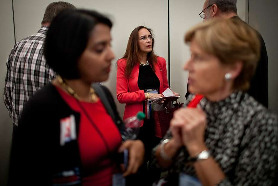 Harmeet Dhillon campaigns for vice chairman of the California Republican Party at their convention, March 2, 2013 in Sacramento, California. Photo: Max Whittaker/Prime, Special To The Chronicle
