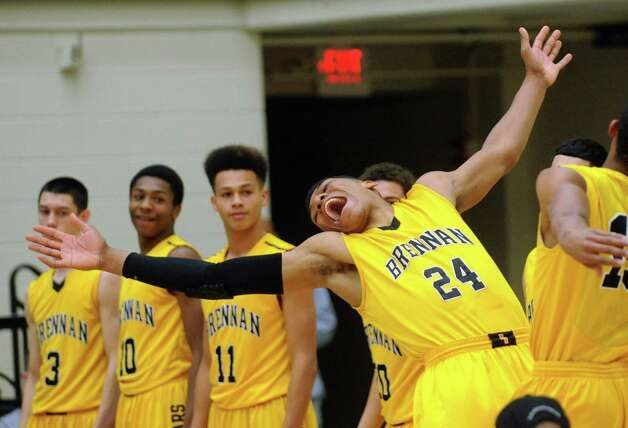George King of Brennan High School is introduced before their boys basketball Region iV-4A final against Alamo Heights at Littleton Gym on Saturday, March 2, 2013. Photo: Billy Calzada, Express-News / San Antonio Express-News