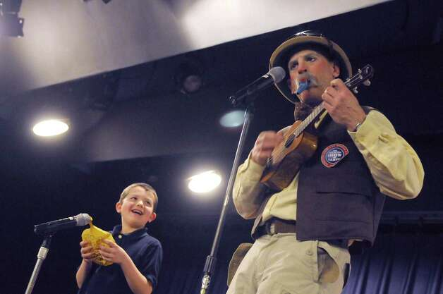 Thomas Gillespie, 6, of Guilderland assists Ringling Brothers Circus clowns during the Hannaford Kidz Expo at the Empire State Plaza on Saturday March 2, 2013 in Albany, N.Y. (Michael P. Farrell/Times Union) Photo: Michael P. Farrell