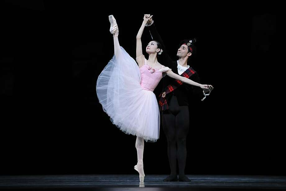 "Yuan Yuan Tan and Davit Karapetyan in Balanchine's ""Scotch Symphony,"" part of a foray into multicultural-flavored dance styles. Photo: Erik Tomasson"