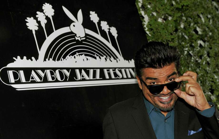 George Lopez, the master of ceremonies for this year's Playboy Jazz Festival, poses following a news conference at the Playboy Mansion on Thursday, Feb. 28, 2013 in Los Angeles. The 35th Anniversary Playboy Jazz Festival will be held at the Hollywood Bowl on June 15 and 16. (Photo by Chris Pizzello/Invision/AP) Photo: Chris Pizzello