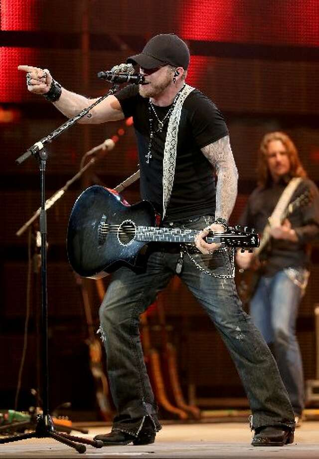 Brantley Gilbert performs at the Houston Livestock Show and Rodeo. (Thomas B. Shea)