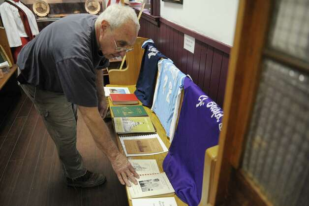 Tom Ragosta, president of the Watervliet Historical Society talks about a new exhibit on the churches of Watervliet that is on display at the historical society on Thursday, Feb. 28, 2013 in Watervliet, NY.  (Paul Buckowski / Times Union) Photo: Paul Buckowski