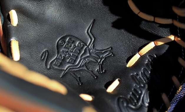 A shot of the detail on the inside of a glove. Photo: Karen Warren / © 2013 Houston Chronicle