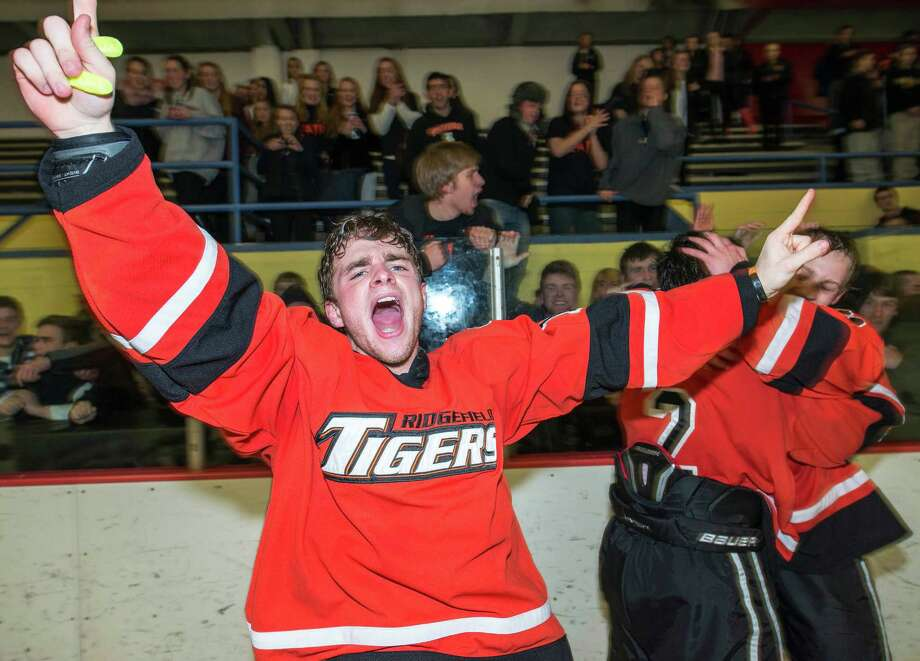 Ridgefield high school against St. Joseph high school in the FCIAC boys ice hockey championship game held at Terry Conners Ice Rink, Stamford CT on Saturday, March 2nd, 2013 Photo: Mark Conrad / Connecticut Post Freelance
