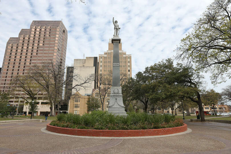 Travis Park was willed to San Antonio by Augustus Maverick, who signed the Texas Declaration
