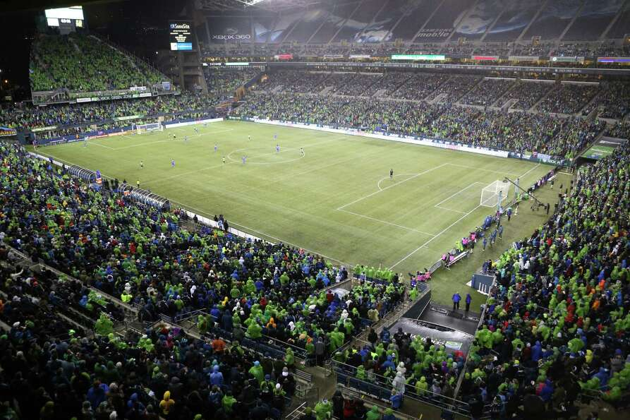 Seattle Sounders play the Montreal Impact during the Sounders season opener at CenturyLink Field.