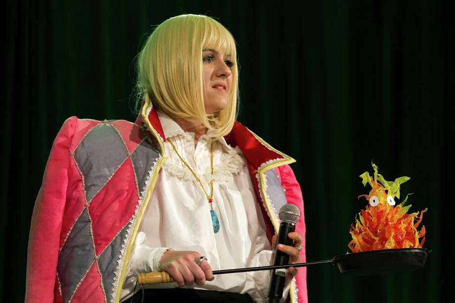 Caitlin Turner, dressed as Howl Jenkins, shows off her costumed handiwork on the second day of the annual Emerald City Comicon on Saturday, March 2, 2013, in the Washington State Convention Center in Seattle, Wash. Photo: JORDAN STEAD / SEATTLEPI.COM