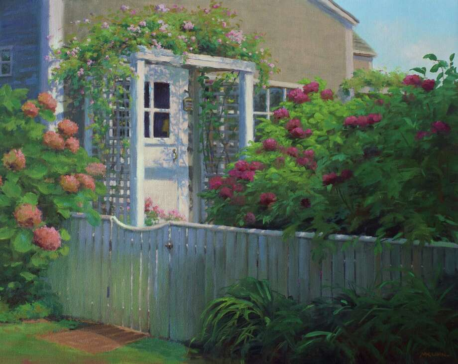 """The Garden Door,"" one of the works by Marianne Kuhn, who will be exhibiting in ""Spring and Summer: A Study in Contemporary Realism"" at the Geary Gallery. Photo: Contributed"