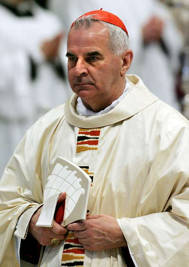 Cardinal Keith O'Brien recused himself from the conclave to select a new pope. Photo: Thomas Coex, AFP/Getty Images