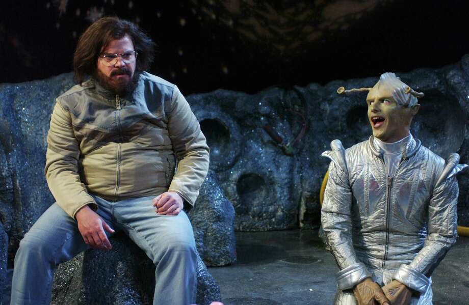 "Jack Black as Steve, Andy Samberg as Glirk during ""Deserted Moon"" skit on on Saturday Night Live in 2005 Photo: Dana Edelson, Multiple / © NBC Universal, Inc."