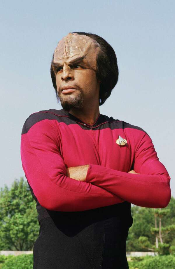 "Actor Michael Dorn, who plays Lt. Worf in the TV show ""Star Trek-The Next Generation, is seen in full makeup during a 1987 Los Angeles, California, photo session. (Photo by George Rose/Getty Images) Photo: George Rose, Multiple / 1987 George Rose"