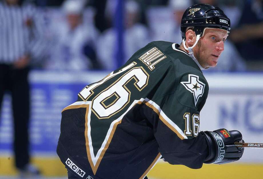 June 19, 1999 -- Brett Hull's skate in the creaseThe Dallas Stars won the 1999 Stanley Cup in wild and controversial fashion, on a goal in triple overtime that Buffalo Sabres fans have come to call a ''no goal.'' Dallas' Brett Hull (pictured) was credited with a goal that, detractors say, should not have counted because he kicked the puck with his skate into the crease before shooting on goal  That year it was illegal to score a goal if an offensive player's skate entered the crease before the puck did. The NHL removed that rule from the books the following year. Dallas ended up winning the Stanley Cup on that goal, beating Buffalo four games to two. Photo: Harry How, Getty Images / Getty Images North America