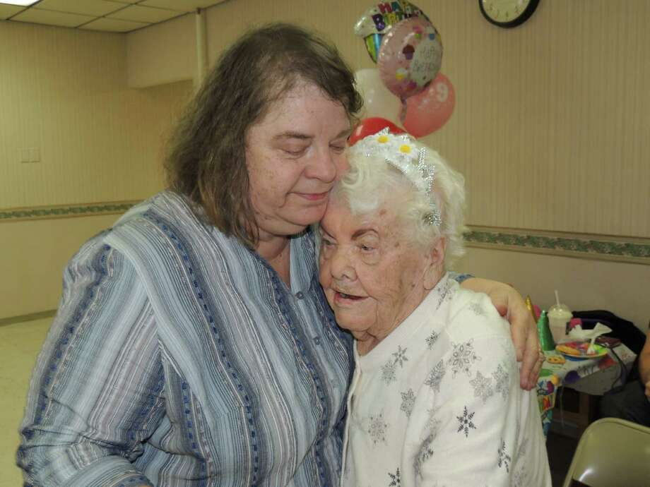 "Josephine Zelasko turned 99 years old Thursday Feb. 28 and the occasion is celebrated at the Hudson Shores Apartments.""Nanny,"" as she is called by her grandchildren, Mike and Lisa Majer, was up to doing some polka dancing to the SantaLucia Band. Here she dances with her daughter, Mary SantaLucia. ""YES she is really 99 - she looks amazing,"" Lisa Majer says."