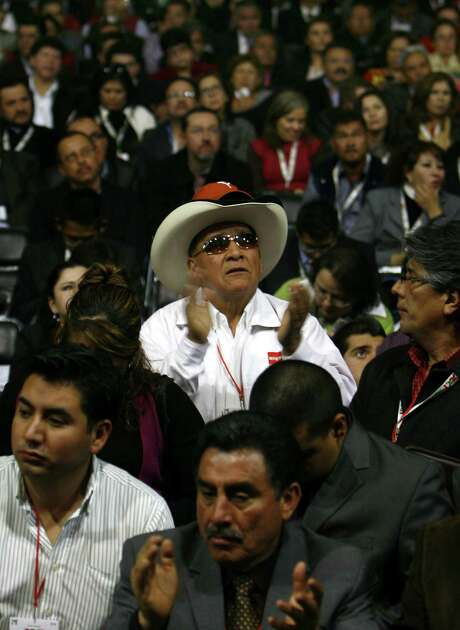 At a national convention of Mexico's Institutional Revolutionary Party, or PRI, the platform was changed to allow private money to be used in the oil industry. Photo: Marco Ugarte / Associated Press