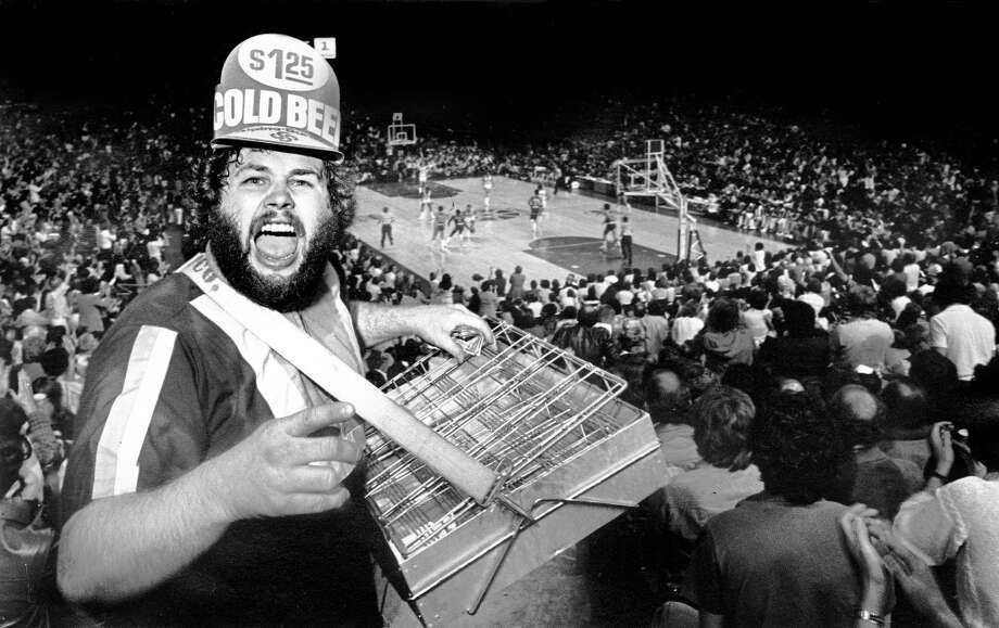 It's Bill ''The Beerman'' Scott in the Kingdome during a 1979 Sonics game.
