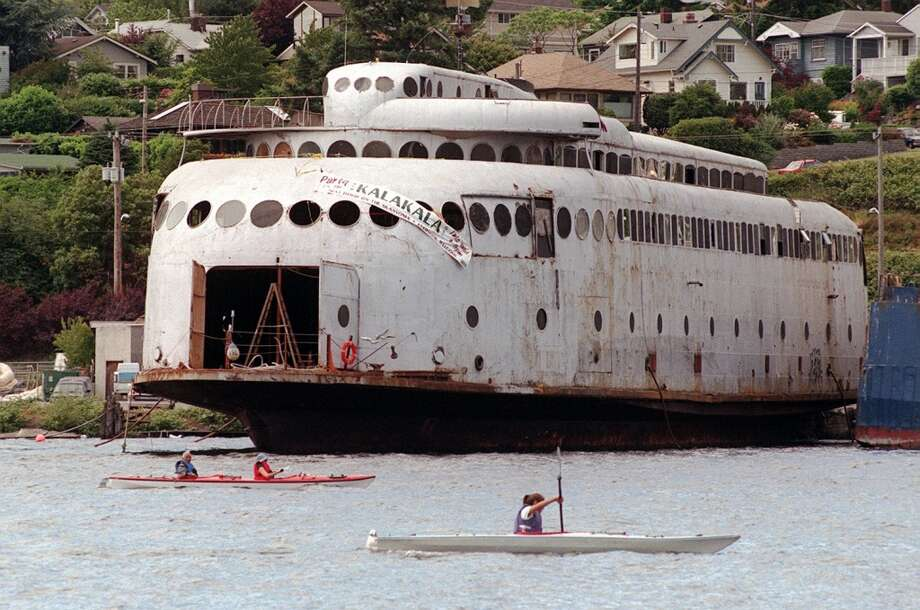 20. Kalakala: By the time this art deco ferry arrived here in the late '90s, it was smelly, rusty and unseaworthy. But for a few years, it was the stuff of dreams, in which fans rallied for a restoration of its 1930s glory. It never happened; the Kalakala was sold and towed off Lake Union in 2003.